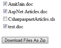 Download Multiple files As Zip FIle In Asp.Net