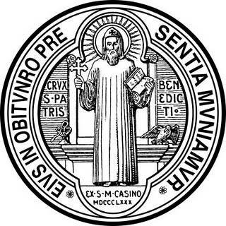 St benedict medal tattoo