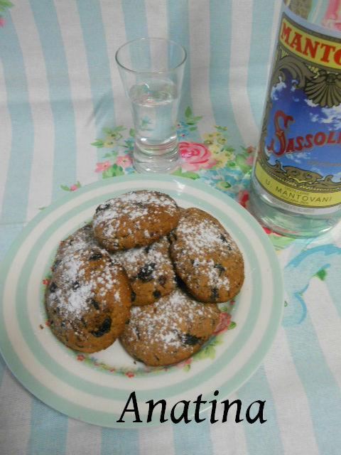 biscotti al farro con miele e mirtilli