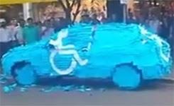 Karma Revenge for Parking in Handicapped Spot