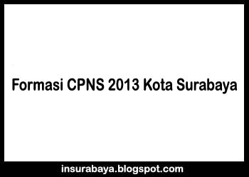 Formasi CPNS 2013 Kota Surabaya