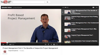 screen shot image of Setpoint System's YouTube page