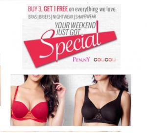 Zivame women clothing & Innerwears from pen.ny & coucou brands upto 40% + Buy 3 get 1 Free