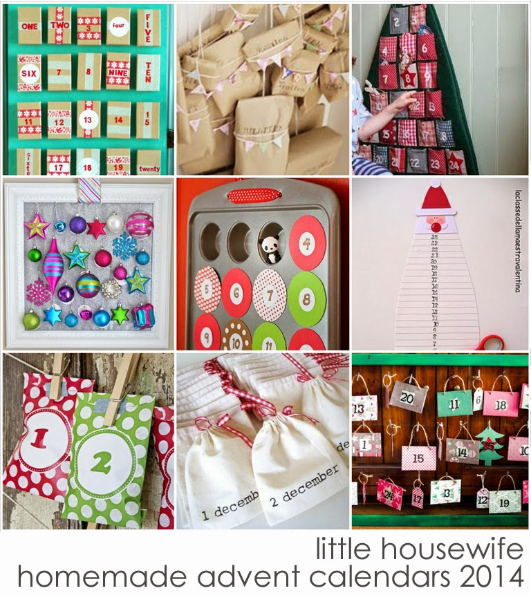 Homemade Calendar With Pictures : Little housewife hand made advent calendar ideas