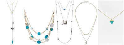 Lucky Brand Two Tone Dragonfly Double Layer Necklace $24.50 (regular $35.00)  Kenneth Cole New York Gold Tone Mixed Blue Shell Bead Multi Row Necklace $25.00 (regular $50.00)  Lucky Brand Lock and Key Triple Layer Necklace $40.69 (regular $49.00)  Jules Smith Layered Arrow & Heart Charm Necklace $44.00 (regular $89.00)  Samantha Wills Aztec Dreaming Necklace $105.00 (regular $150.00)