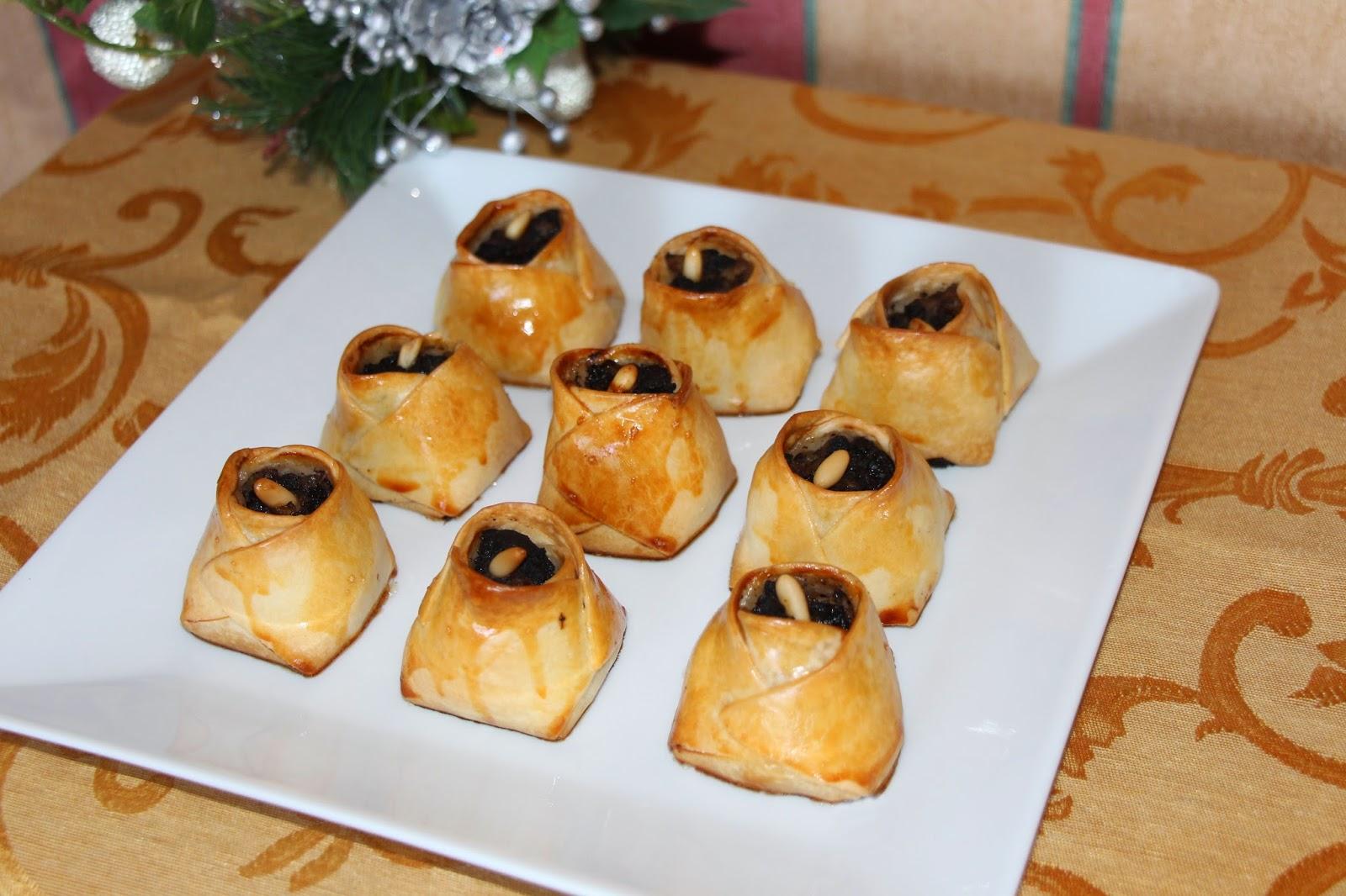 receta navidad hojaldre morcilla