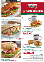 Krispy Kreme 2 New Sandwiches - Krispy Panini with Chicken Pesto and Krispy Croissant with Bologna