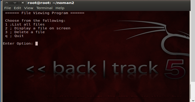 Delete files from Backtrack