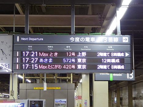 Maxとき12号 上野行き