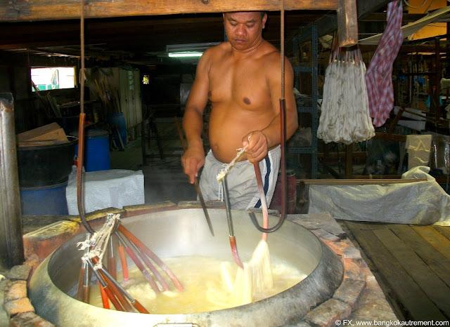Jim Thompson à Bangkok, traitement de la soie