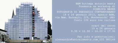 Locandina del workshop di fotografia del paesaggio condotto da Gianluca Maver