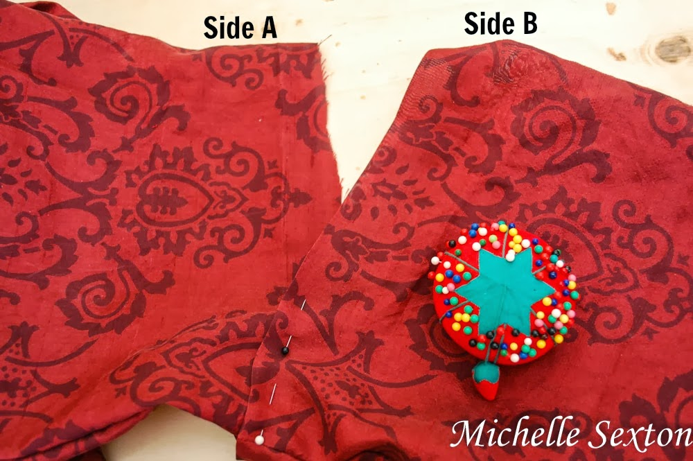 sew both ends together - how to make an infinity scarf - www.soheresmy.life