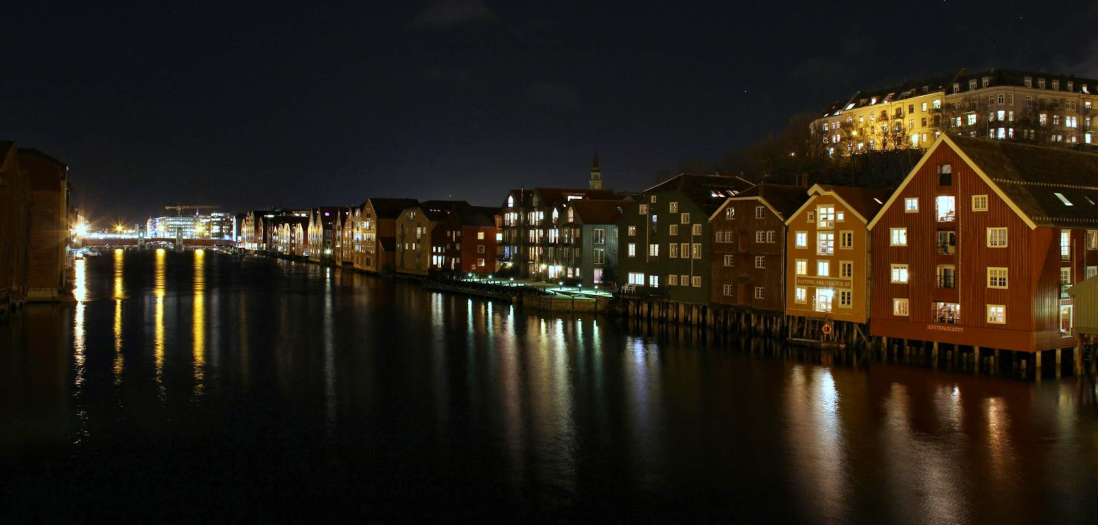 Trondheim night view (Photo Sven-Erik Knoff)