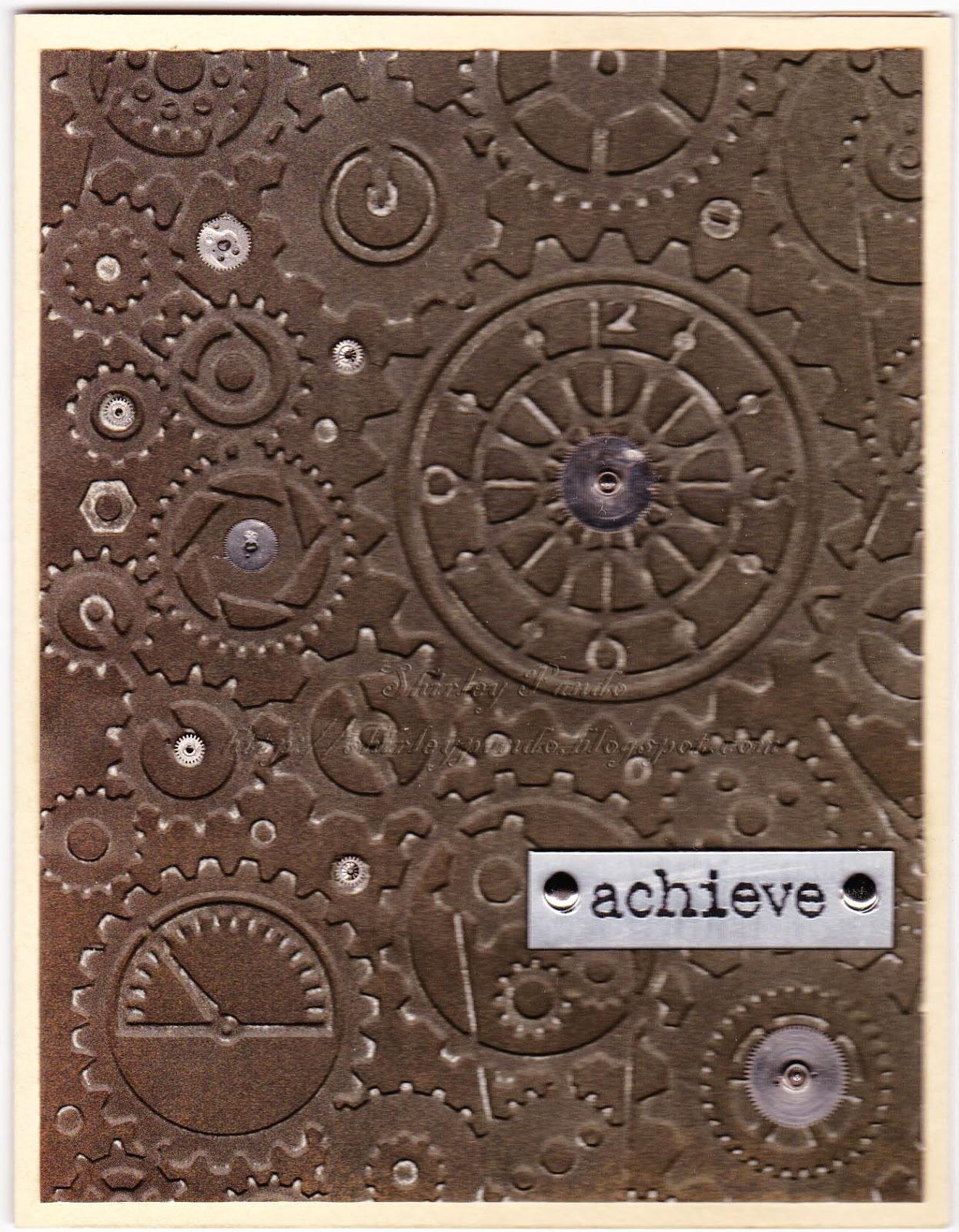 Achieve masculine card