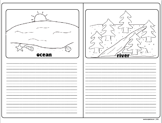Landforms and Bodies of Water FREEBIE The Lesson Plan Diva – Water Worksheets for Kindergarten