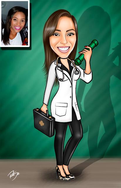#formatura #faculdade #medicina #estilosa #linda #chique maravilhosa #caricatura #ricksucaricaturas