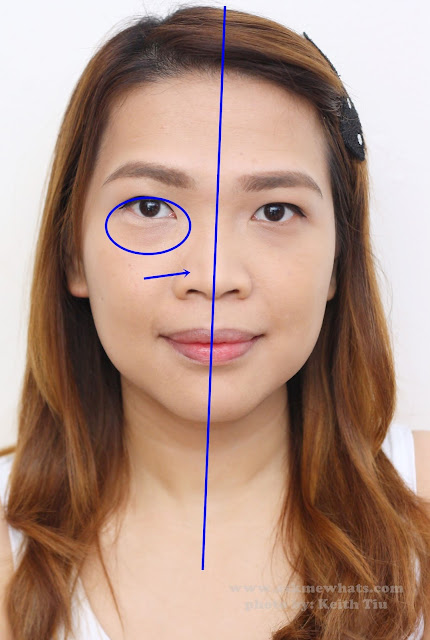 before and after photo after using  Kate Tokyo 3D Eye Create