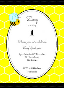 Honeycomb Bee Party Invite