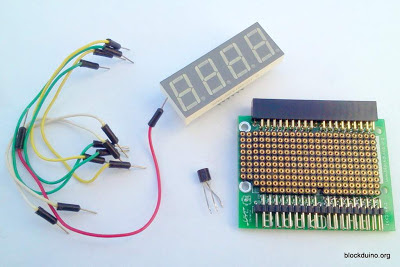 BlockProto - термометр из LM35 и светодиодного дисплея GNQ-5641