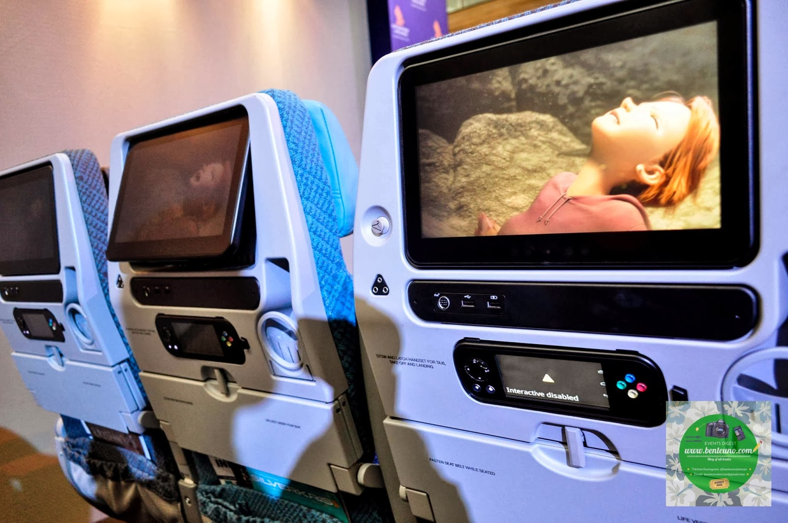 KrisWorld In-Flight Entertainment System on Economy Class of SingAir