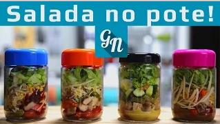 receita de salada no potinho