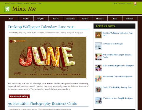 Mixx Me Blogger Theme