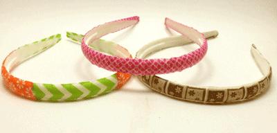 Diademas con washi tape