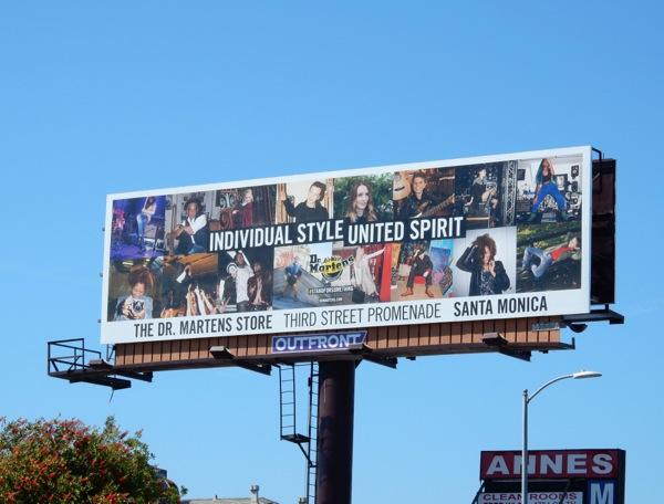 Dr Martens store billboard