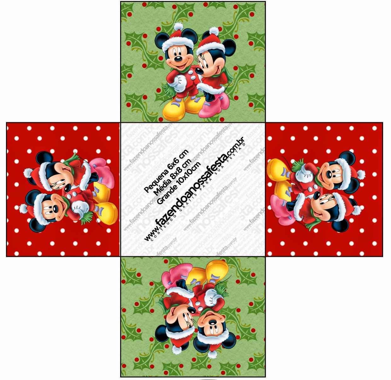 Minnie and mickey special christmas free printable boxes - Caramelos de navidad ...
