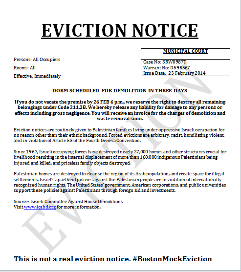 demolition and eviction to