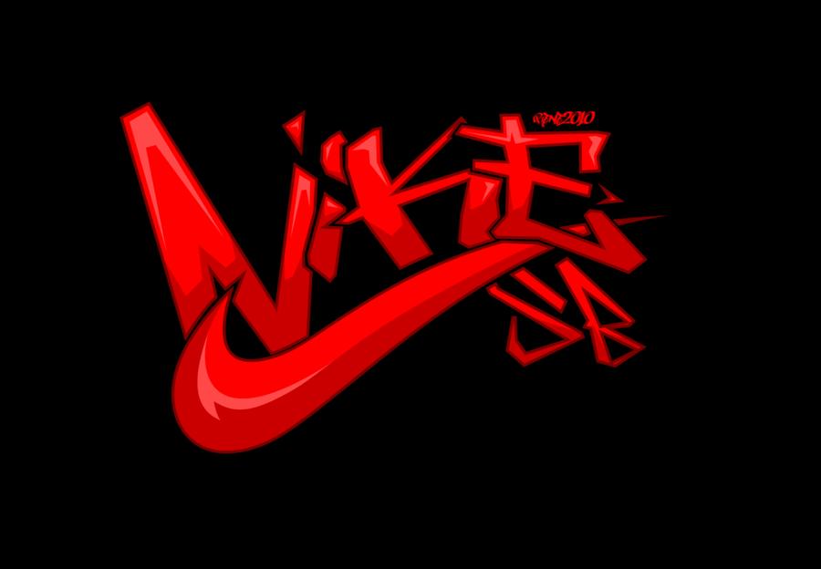 NIKE赤黒