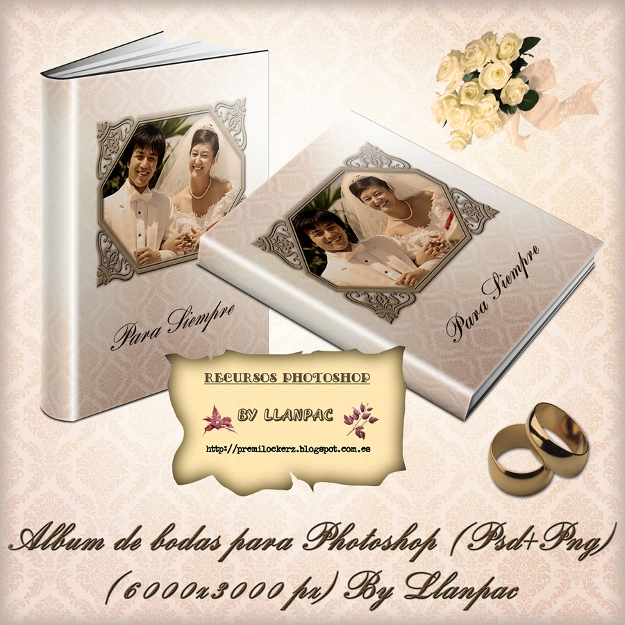 Recursos Photoshop Llanpac: Album de bodas para Photoshop (Psd+Png ...