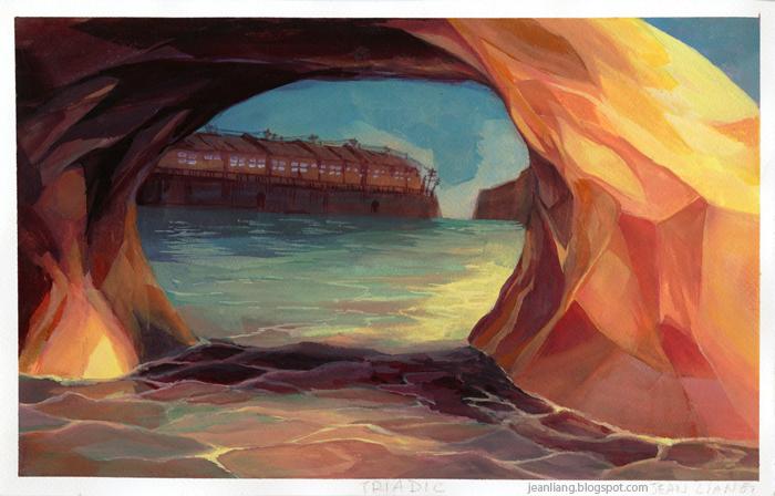 Jean Draws Gouache Paintings