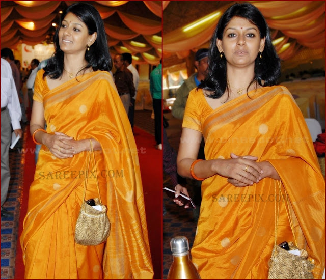 Nandita_Das_in_mustard_yellow_silk_saree