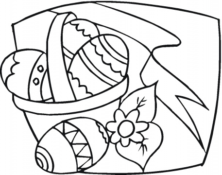 Easter  Coloring Pages on Free Coloring Pages  Easter Eggs Coloring Page