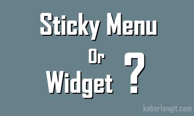 Membuat Wiget Sidebar atau Menu Melayang Di Blog