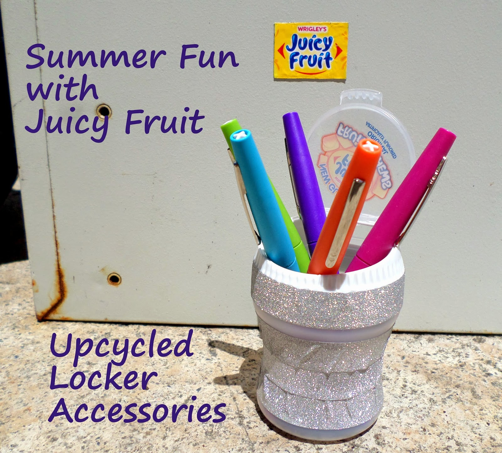 Summer Fun Juicy Fruit Upcycled Locker Accessories #JuicyFruitFunSide #shop