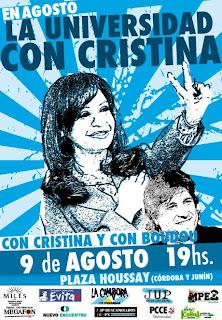 La Universidad con Cristina