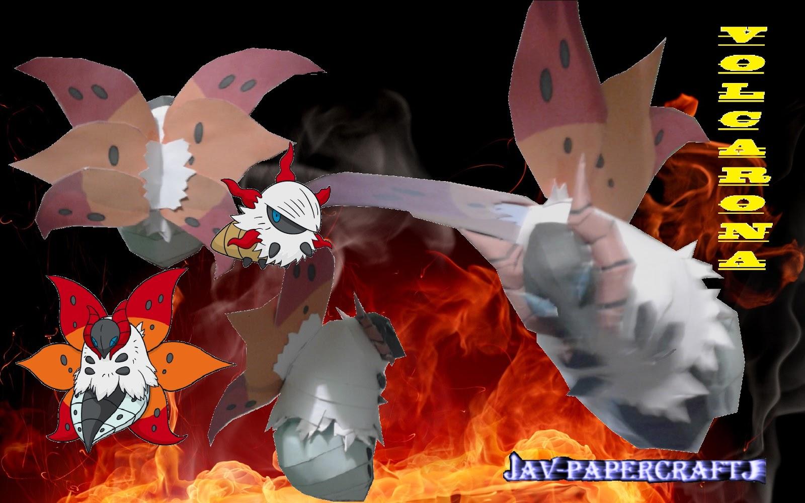 Pokemon Volcarona Papercraft