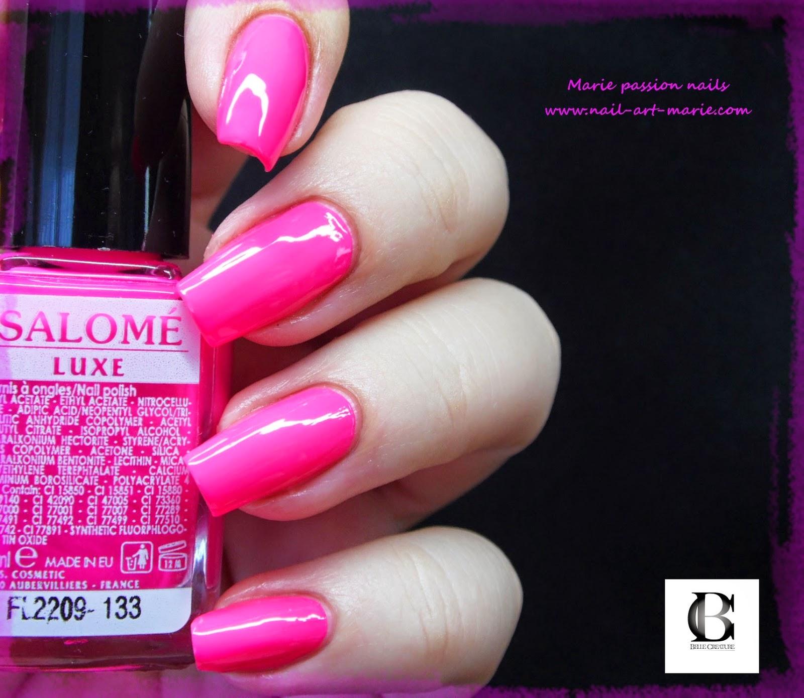 Salomé Luxe rose fluo1