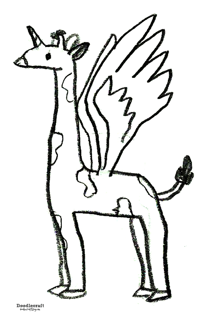Doodlecraft Girafapegacorn Turn Artwork Into A Shirt