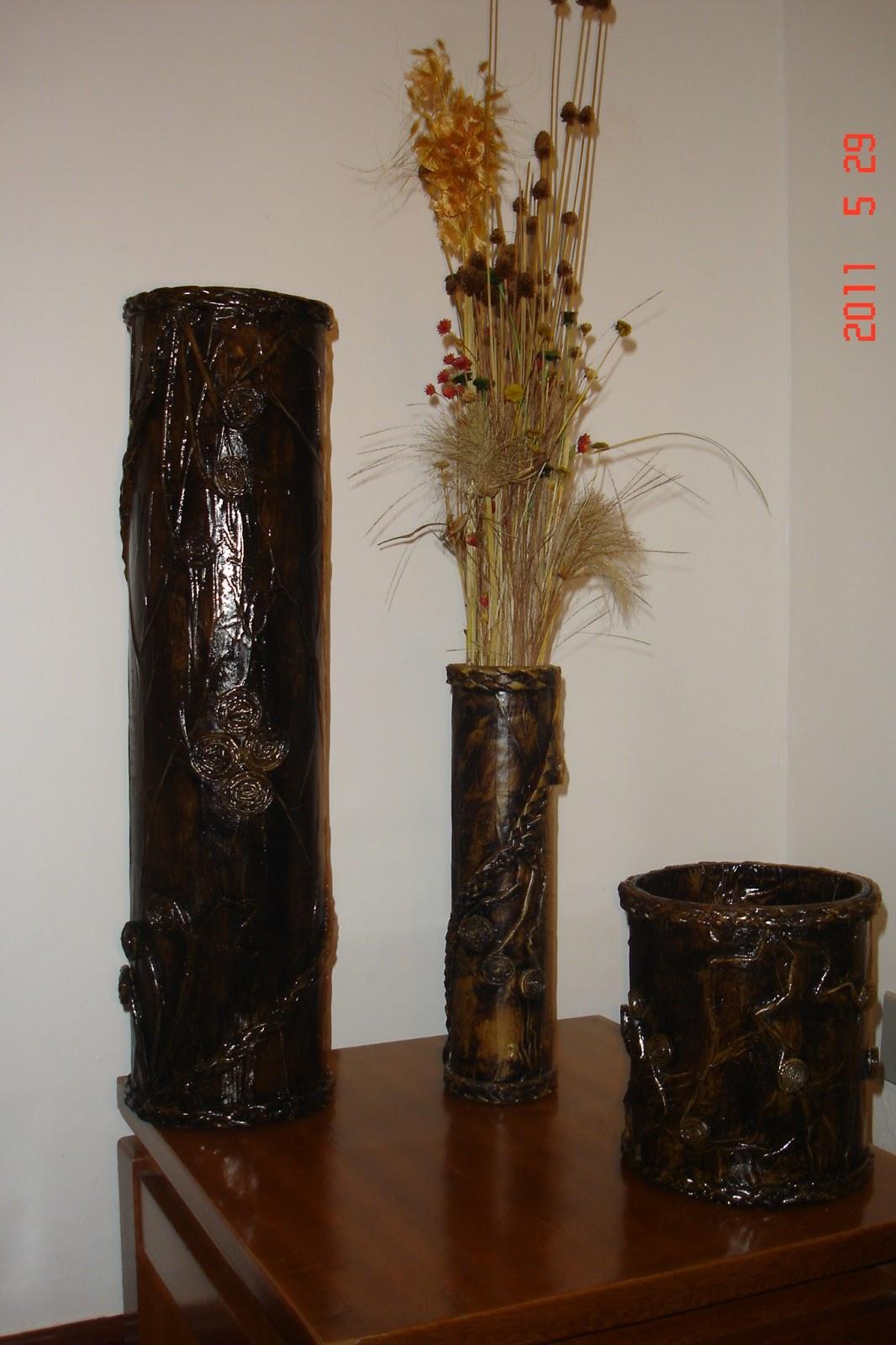 Armario Escobero Ikea ~ ReSignificArt Artesanato Reciclável Vasos (Vasos de Papel u00e3o e Jornal)