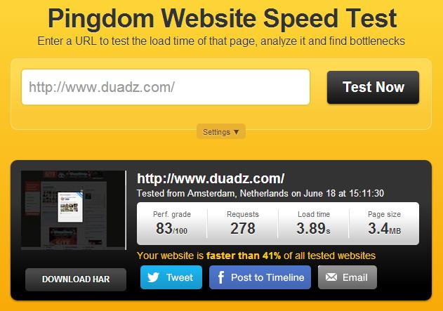 Test Kelajuan Website. Ada Berani Ka?