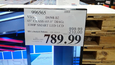 Vizio D650i-B2 65in 1080p at Costco with rebate