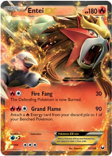 Entei EX Dark Explorers Set Pokemon Card