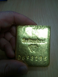 Tungsten gold bar