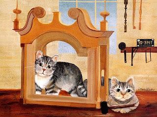 imagens para decoupage de gatos