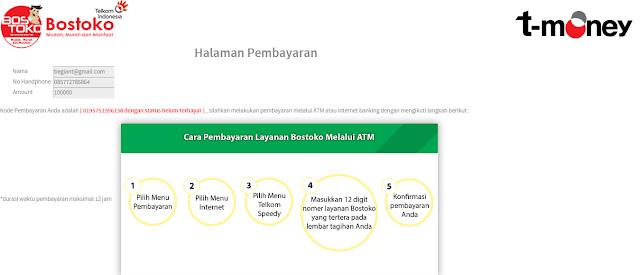 Landing Page (Halaman) Pembayaran Bostoko