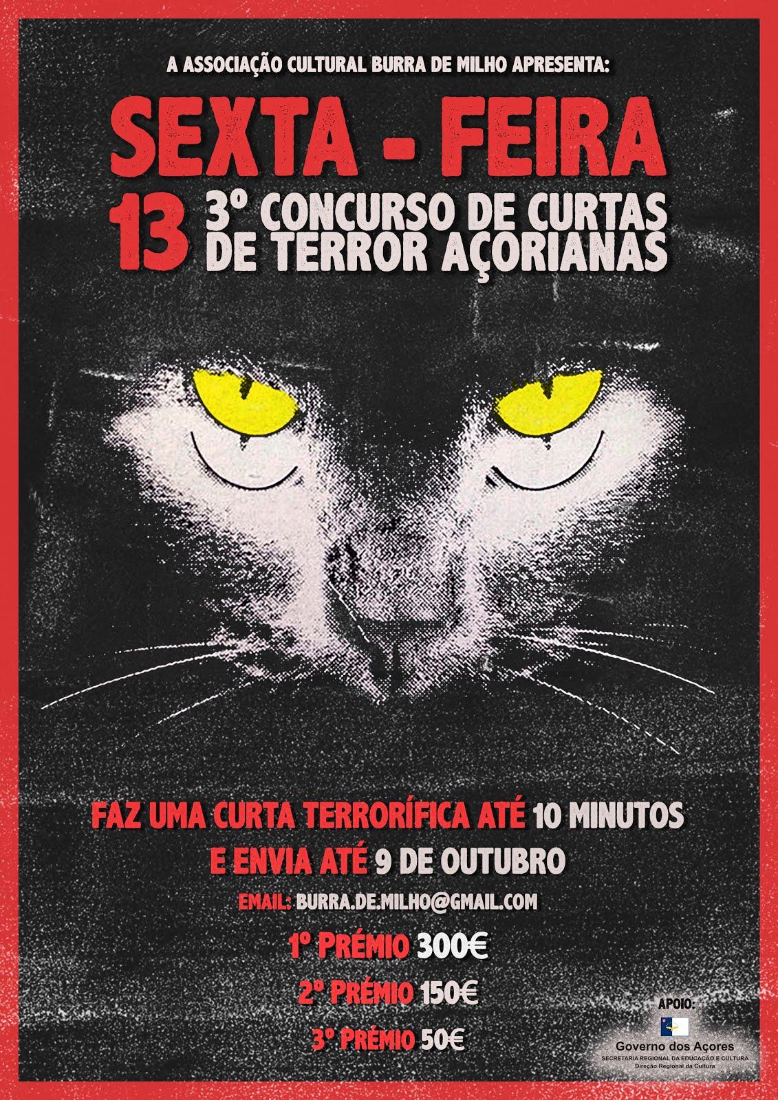 Concurso | SEXTA-FEIRA 13 | 3º Concurso de Curtas de Terror Açorianas