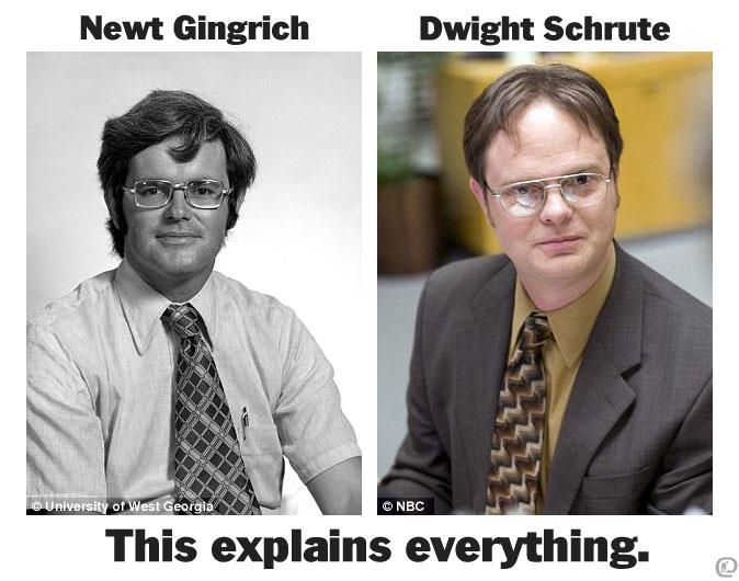 Newt Gingrish - Dwight Schrute - This Explains Everything